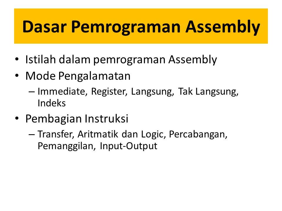 Dasar Pemrograman Assembly