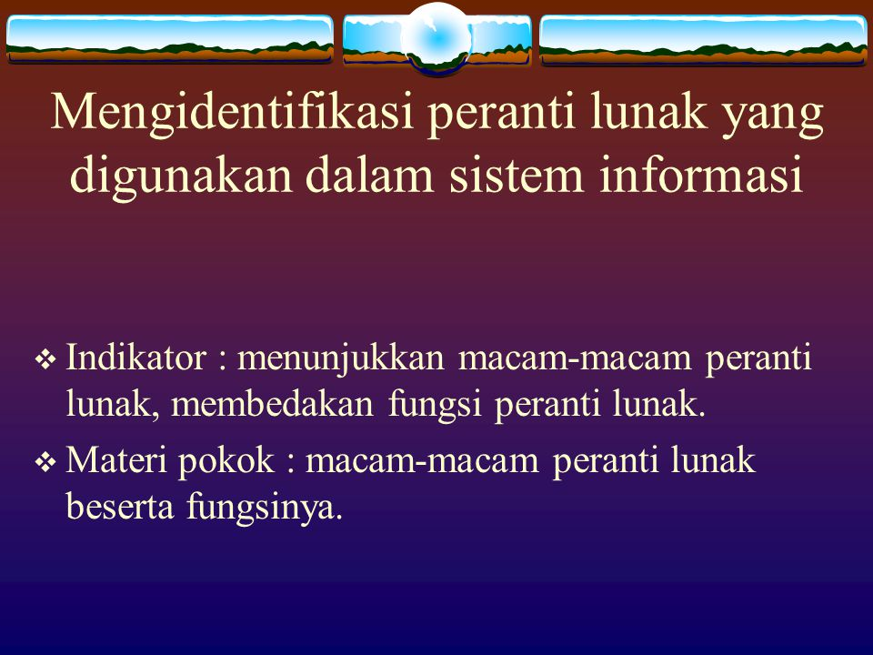 Mengidentifikasi peranti lunak yang digunakan dalam sistem informasi