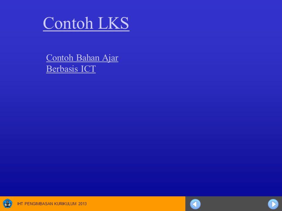 Contoh LKS Contoh Bahan Ajar Berbasis ICT