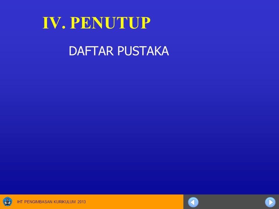 IV. PENUTUP DAFTAR PUSTAKA