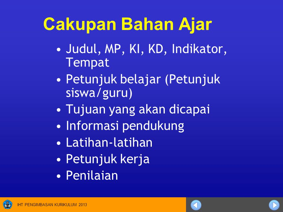 Cakupan Bahan Ajar Judul, MP, KI, KD, Indikator, Tempat