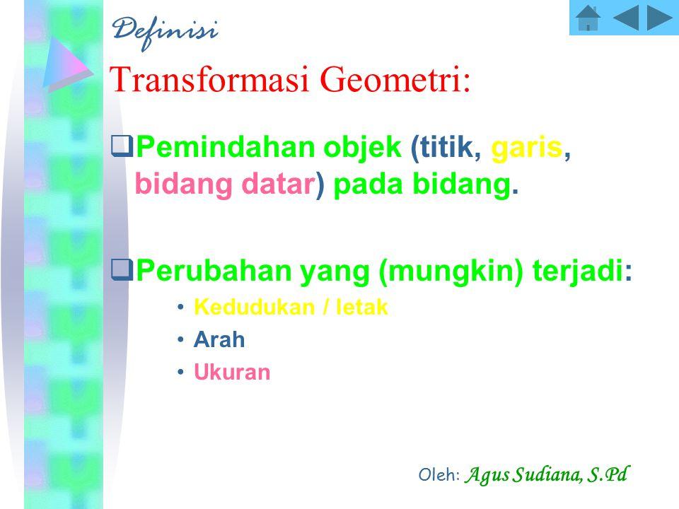 Definisi Transformasi Geometri: