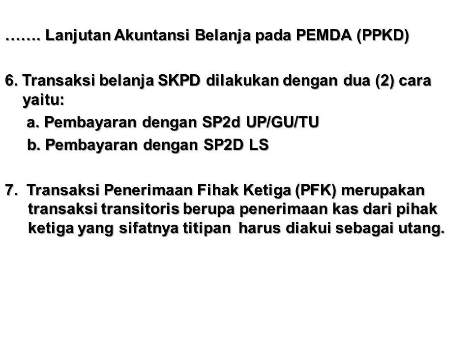 ……. Lanjutan Akuntansi Belanja pada PEMDA (PPKD) 6