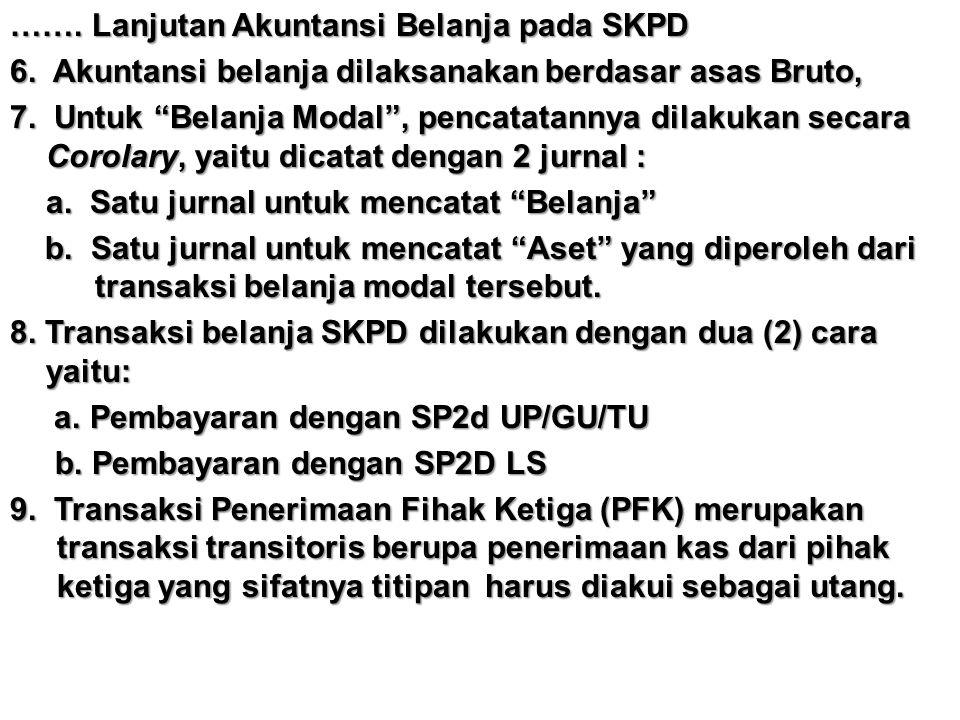 ……. Lanjutan Akuntansi Belanja pada SKPD 6