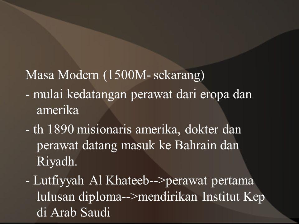 Masa Modern (1500M- sekarang)