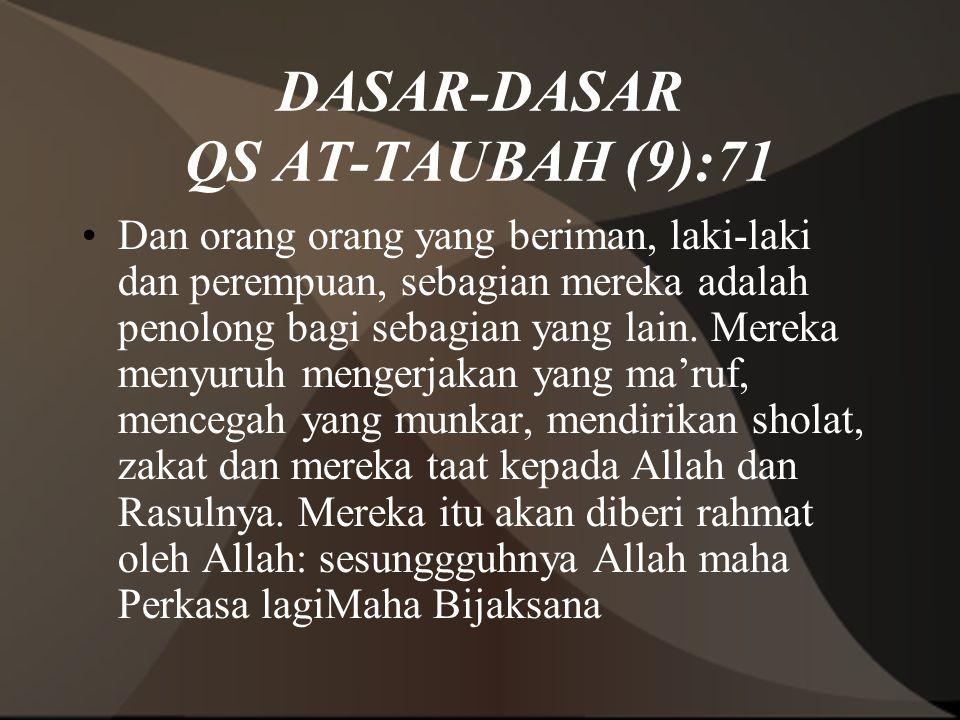 DASAR-DASAR QS AT-TAUBAH (9):71