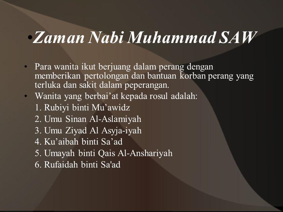Zaman Nabi Muhammad SAW