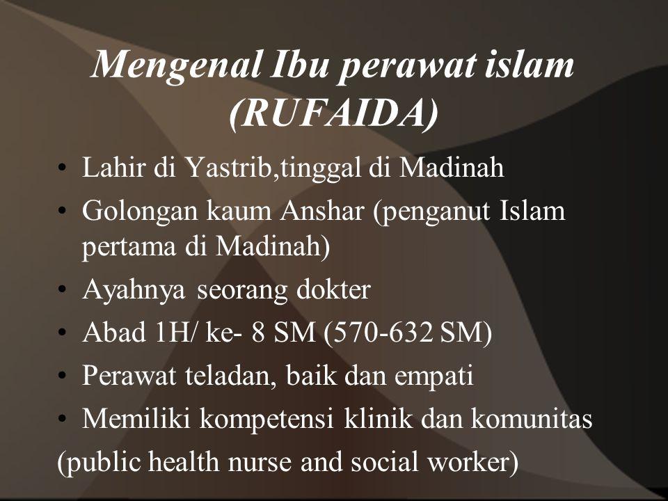 Mengenal Ibu perawat islam (RUFAIDA)