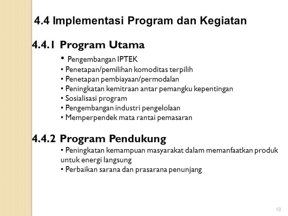 4.4 Implementasi Program dan Kegiatan