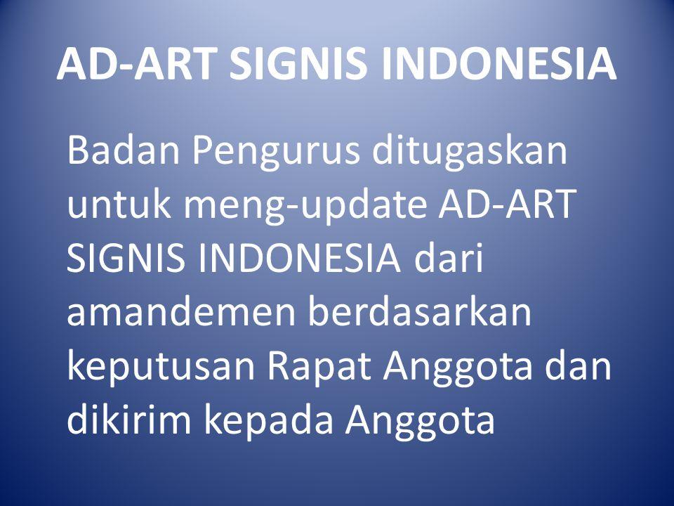 AD-ART SIGNIS INDONESIA