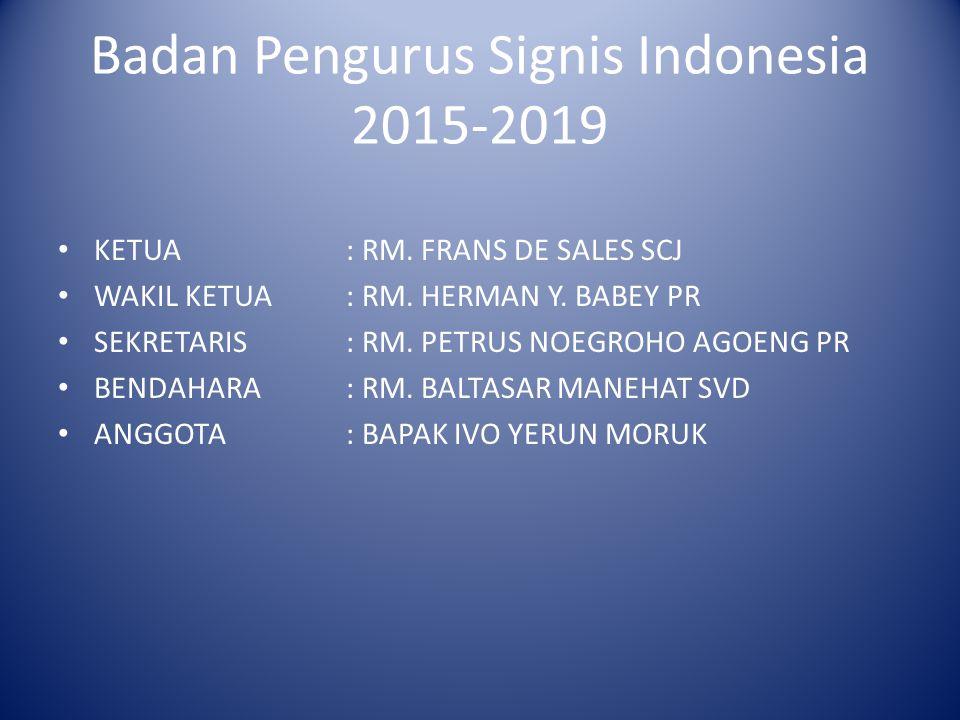 Badan Pengurus Signis Indonesia 2015-2019