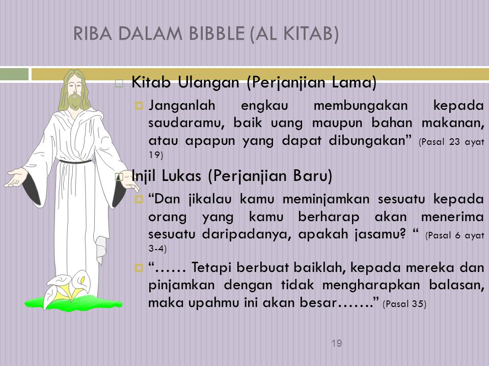 RIBA DALAM BIBBLE (AL KITAB)