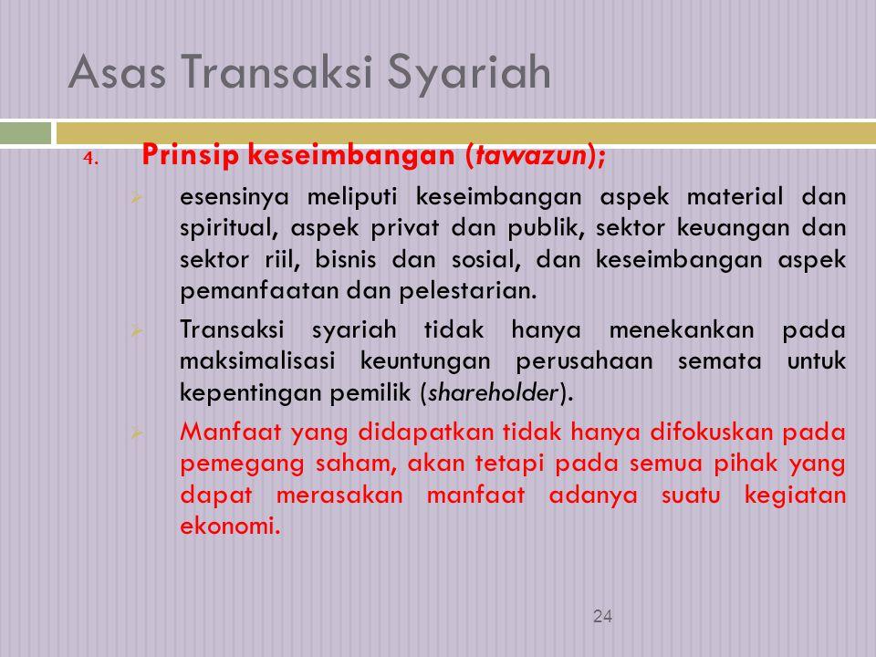 Asas Transaksi Syariah