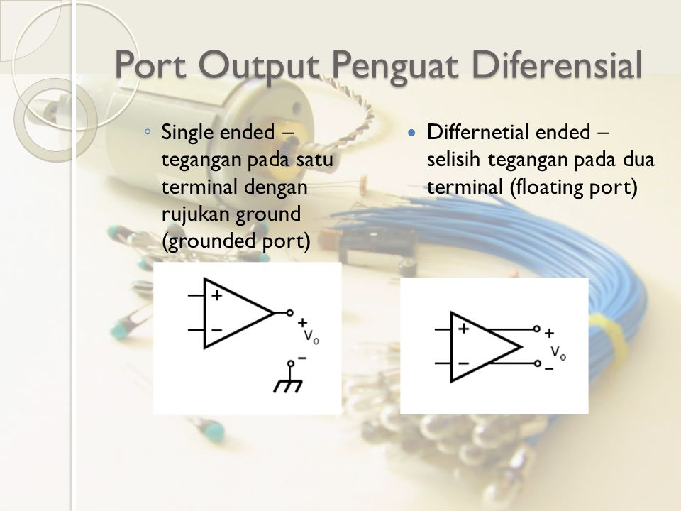 Port Output Penguat Diferensial