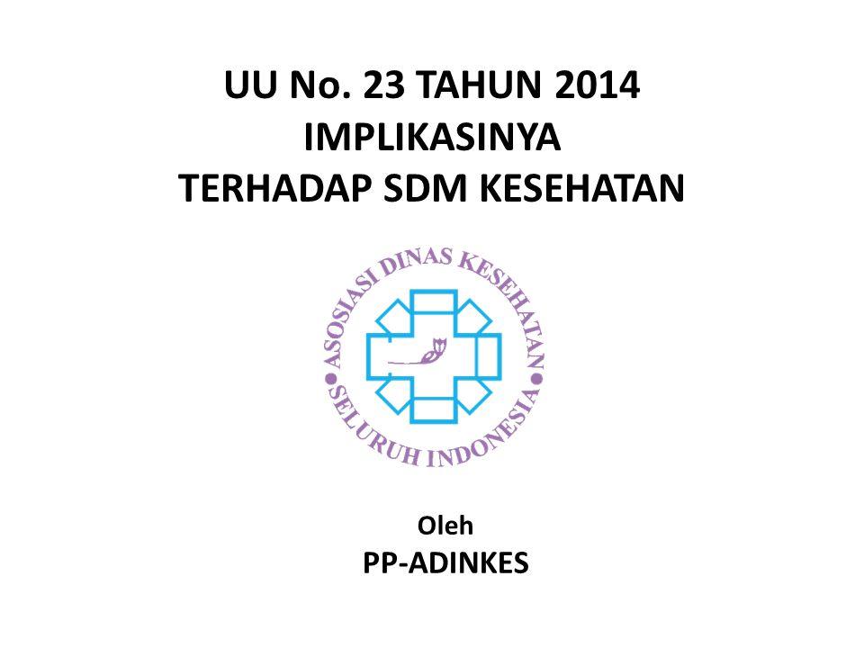 UU No. 23 TAHUN 2014 IMPLIKASINYA TERHADAP SDM KESEHATAN