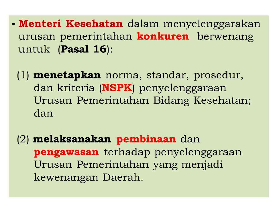 urusan pemerintahan konkuren berwenang untuk (Pasal 16):