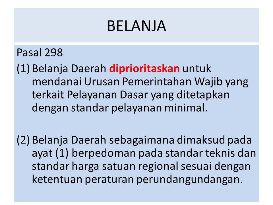 BELANJA Pasal 298.