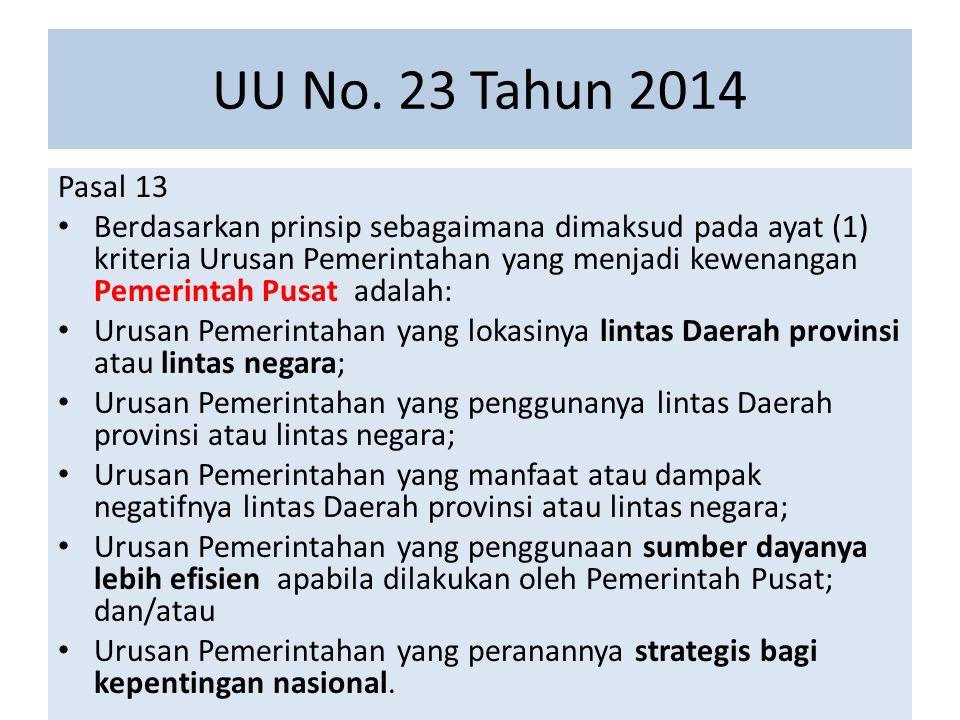UU No. 23 Tahun 2014 Pasal 13.