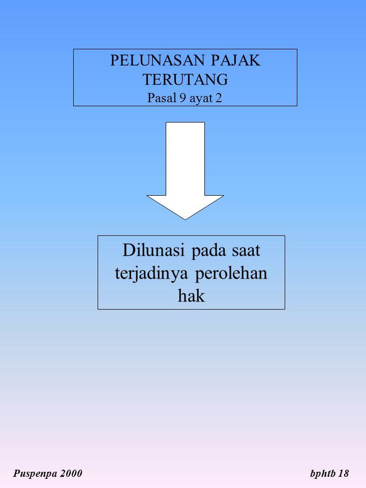 PELUNASAN PAJAK TERUTANG Pasal 9 ayat 2