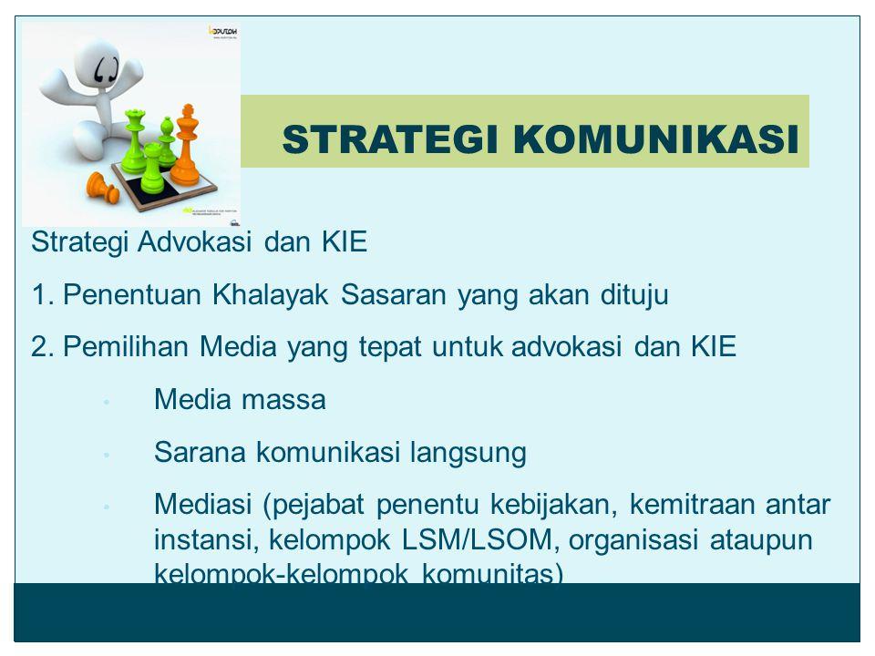 STRATEGI KOMUNIKASI Strategi Advokasi dan KIE