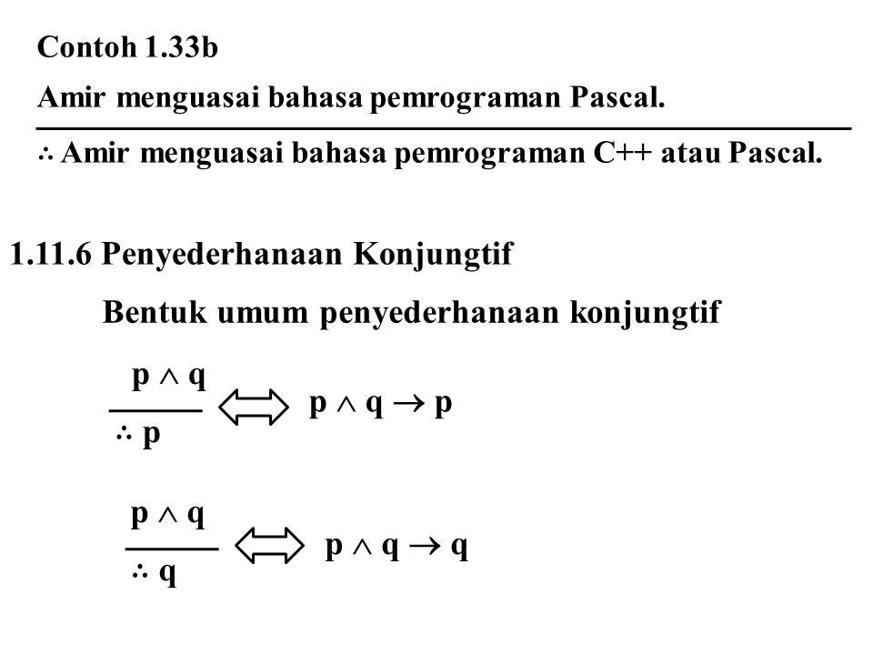 1.11.6 Penyederhanaan Konjungtif