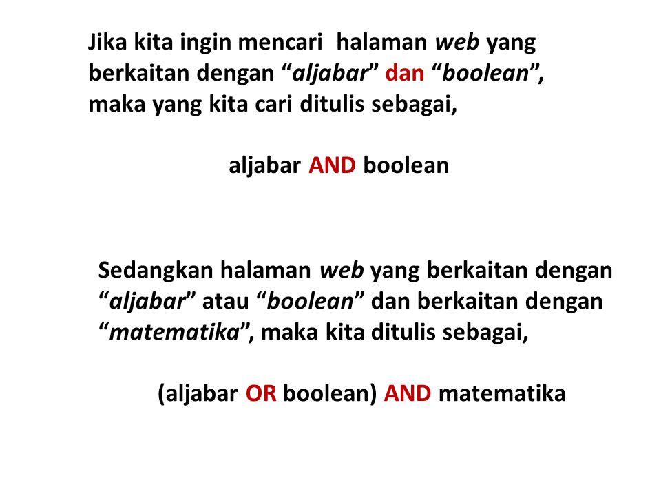 (aljabar OR boolean) AND matematika