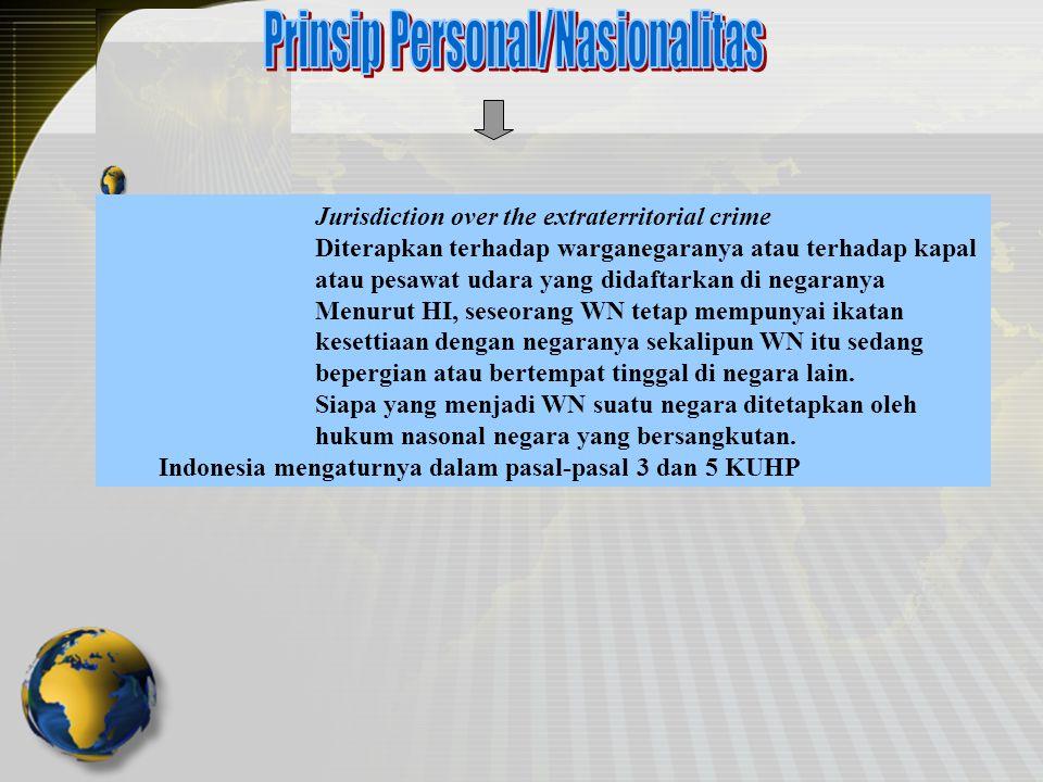 Prinsip Personal/Nasionalitas