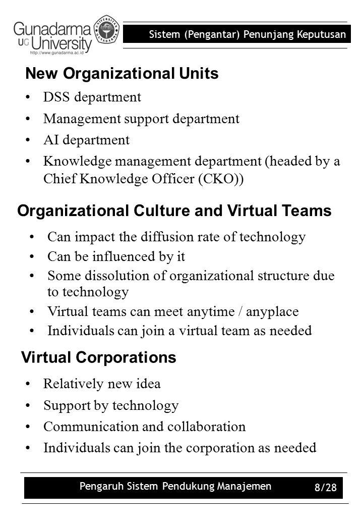 New Organizational Units