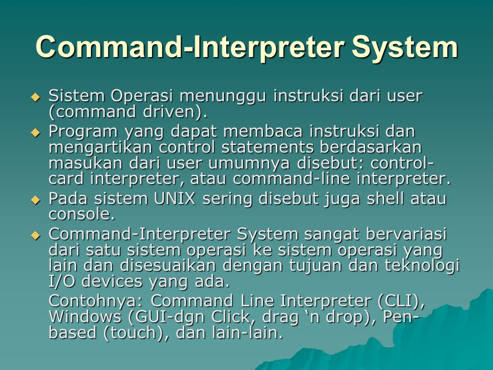 Command-Interpreter System