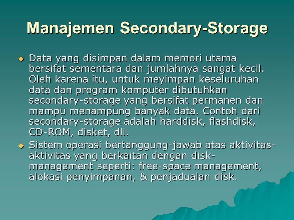 Manajemen Secondary-Storage