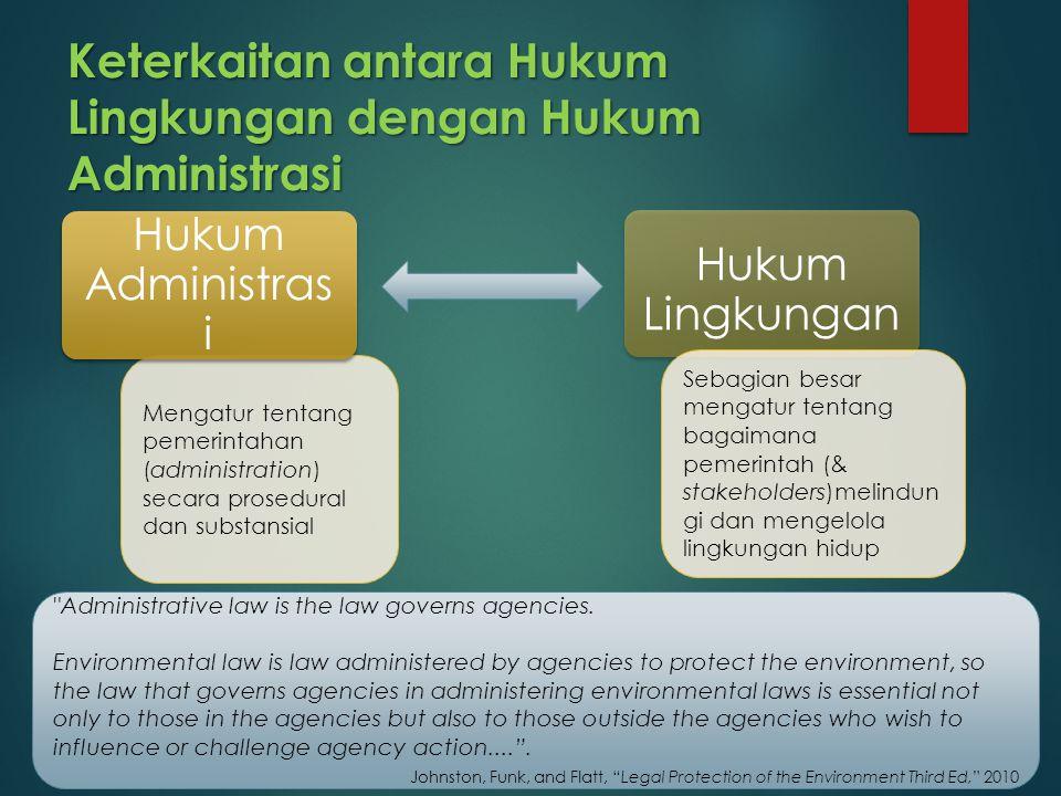 Keterkaitan antara Hukum Lingkungan dengan Hukum Administrasi