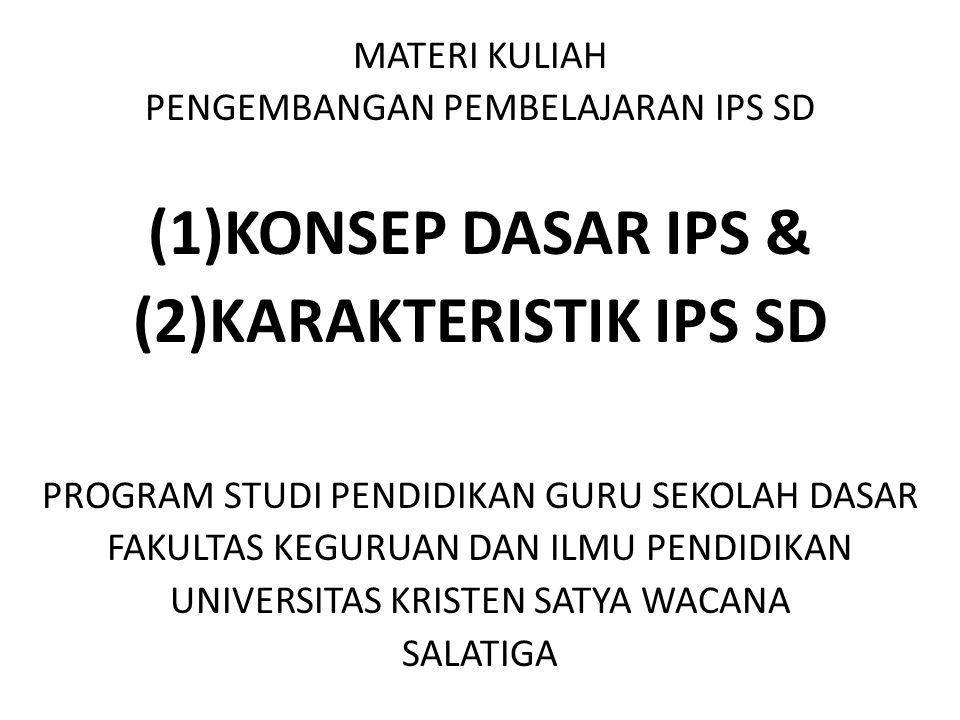 (2)KARAKTERISTIK IPS SD