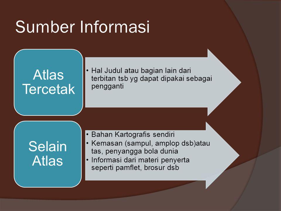 Sumber Informasi Atlas Tercetak