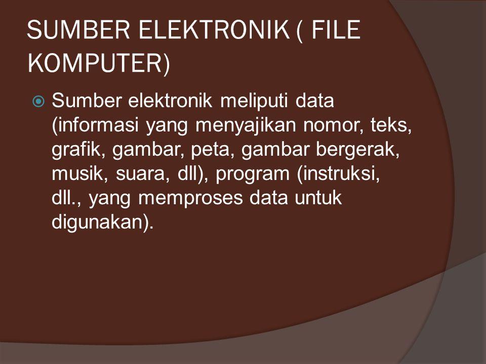 SUMBER ELEKTRONIK ( FILE KOMPUTER)