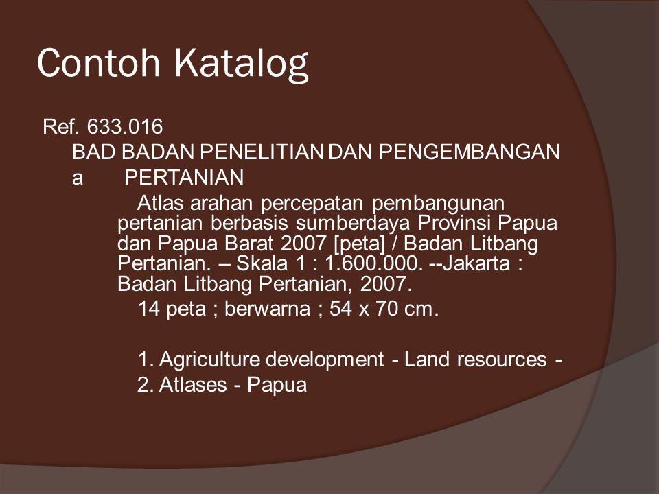 Contoh Katalog