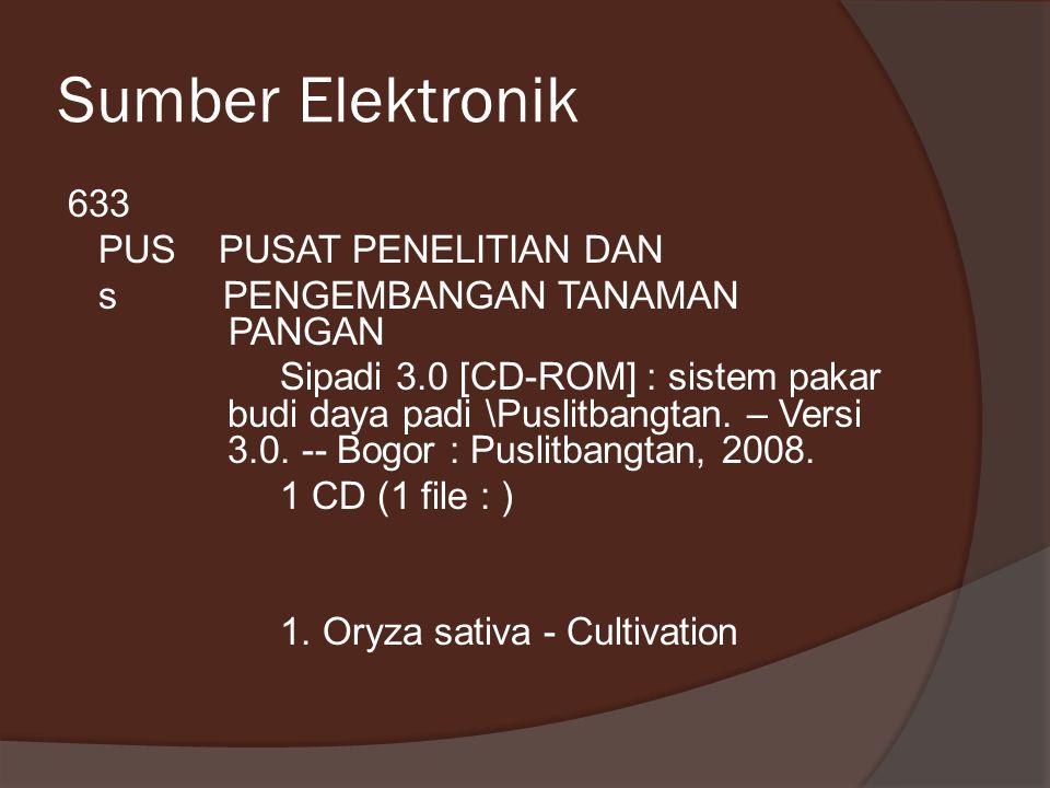 Sumber Elektronik