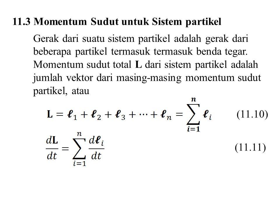11.3 Momentum Sudut untuk Sistem partikel
