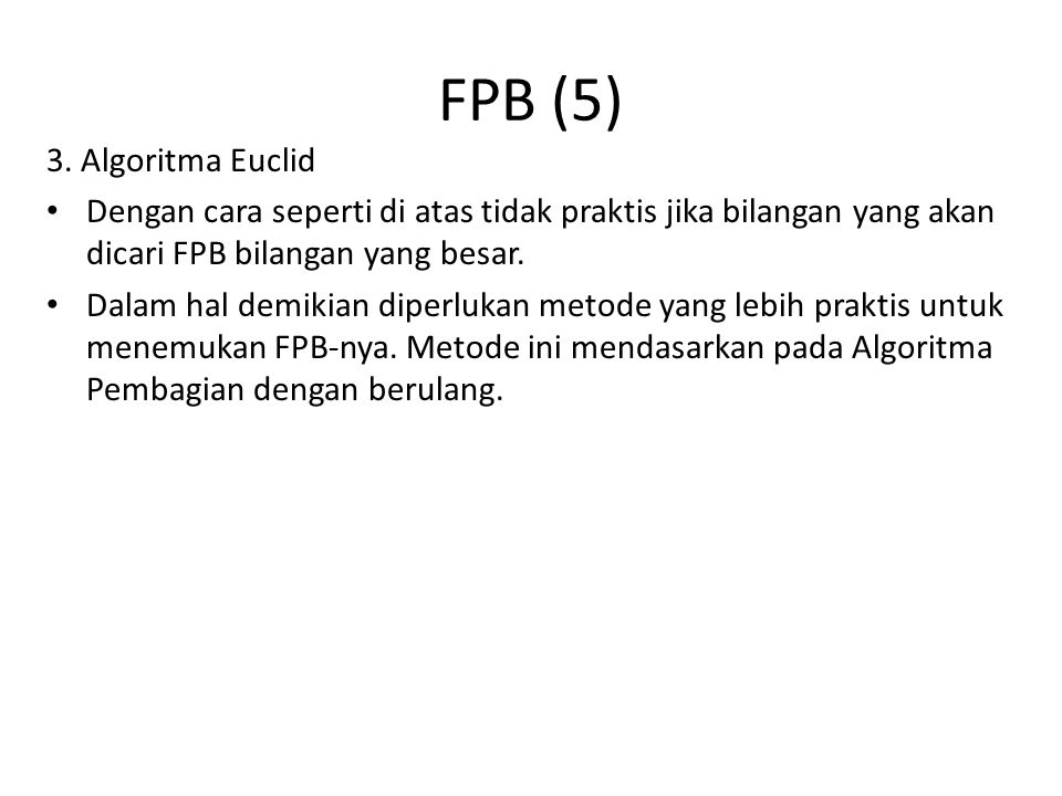 FPB (5) 3. Algoritma Euclid