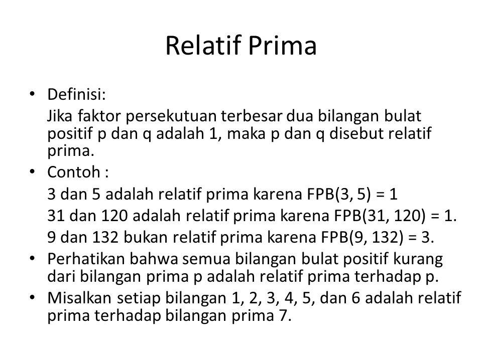 Relatif Prima Definisi: