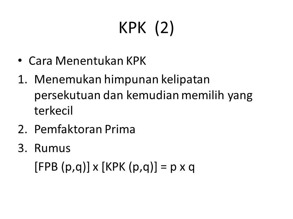 KPK (2) Cara Menentukan KPK