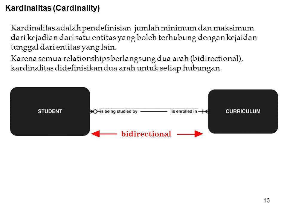 Kardinalitas (Cardinality)
