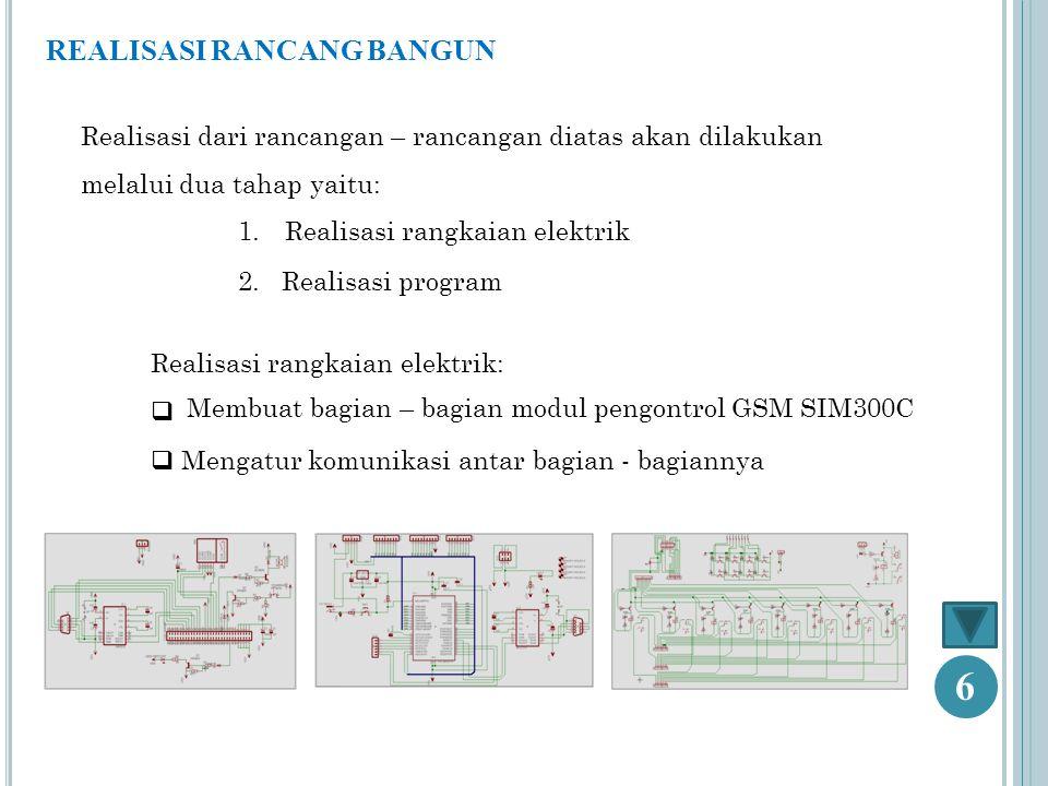 Membuat bagian – bagian modul pengontrol GSM SIM300C