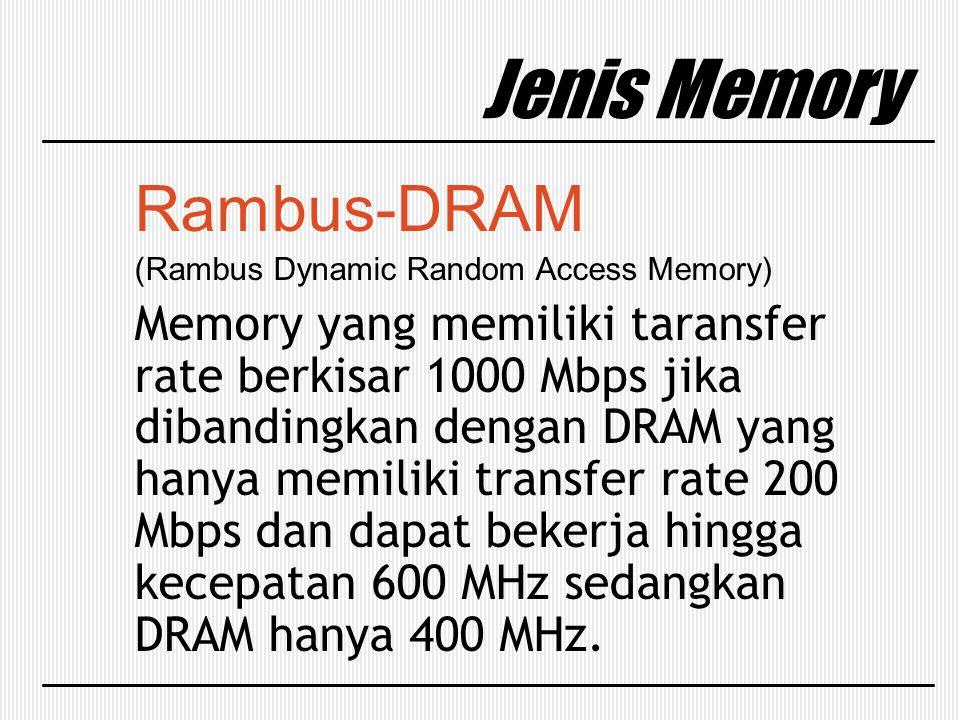 Jenis Memory Rambus-DRAM
