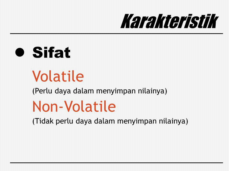 Karakteristik Sifat Volatile Non-Volatile