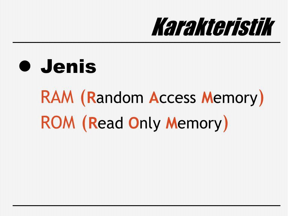 Karakteristik Jenis RAM (Random Access Memory) ROM (Read Only Memory)