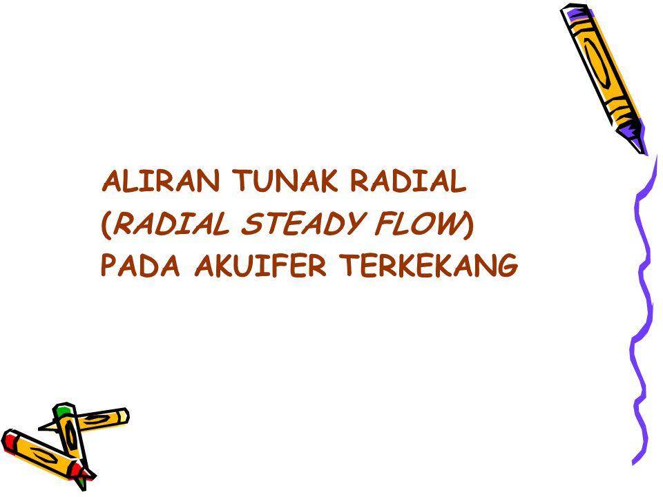 ALIRAN TUNAK RADIAL (RADIAL STEADY FLOW) PADA AKUIFER TERKEKANG