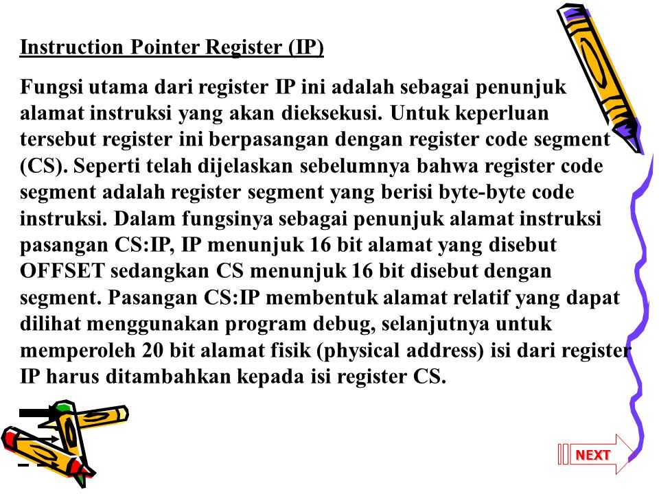 Instruction Pointer Register (IP)
