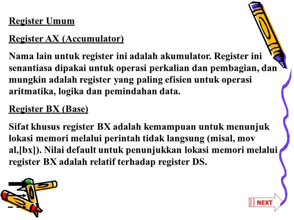 Register AX (Accumulator)