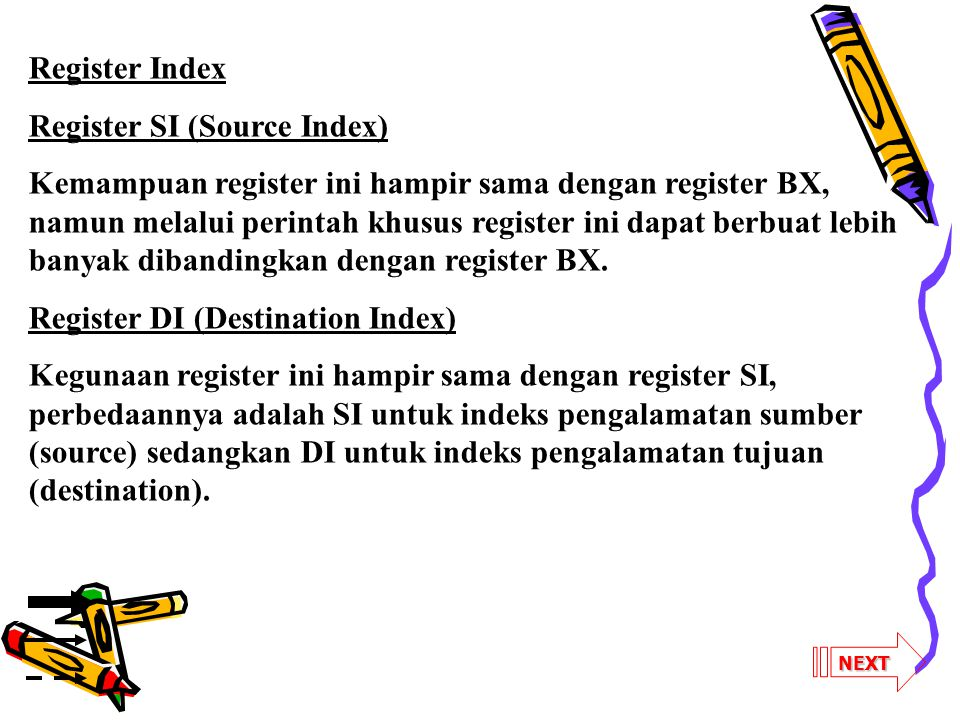 Register SI (Source Index)