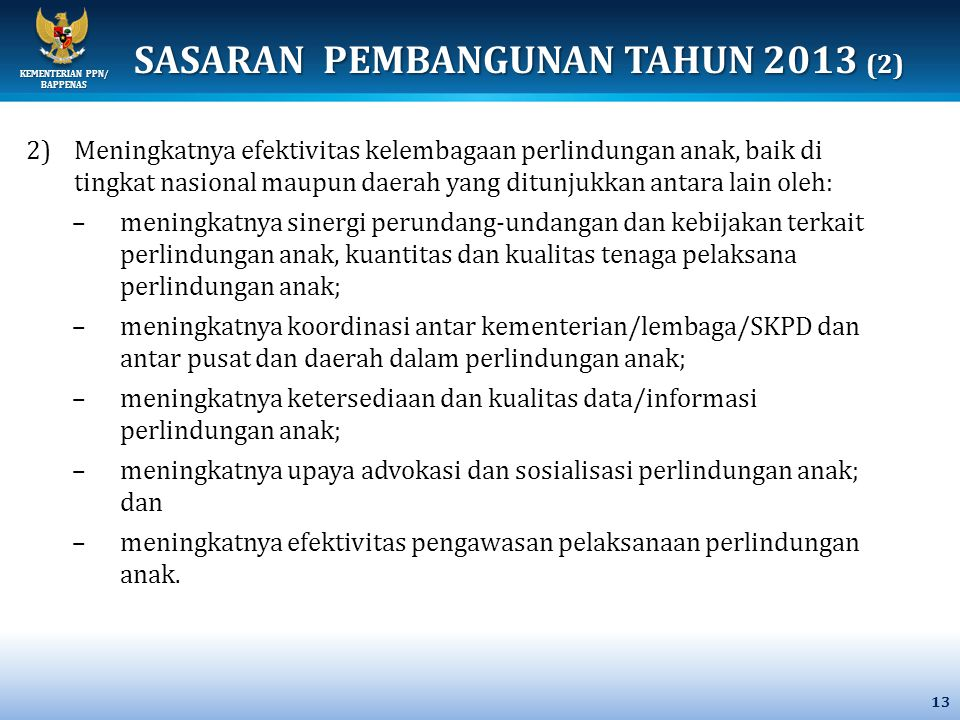 SASARAN PEMBANGUNAN TAHUN 2013 (2)